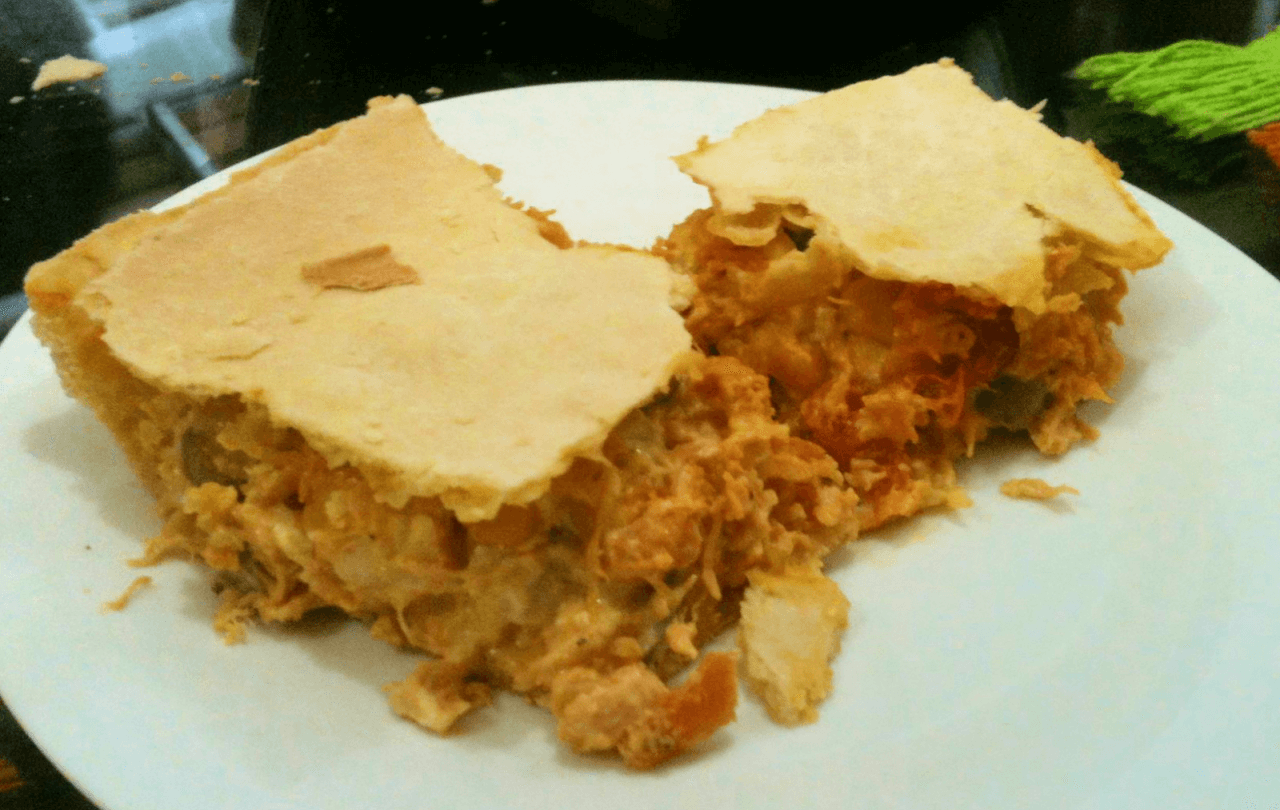 empadão (queijo, frango, camarão, palmito, etc.)